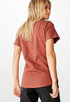 Cotton On - The one fitted v tee - mahogany