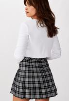 Factorie - Pleated skirt - black & white