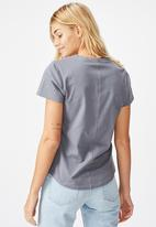 Cotton On - The one fitted v tee folkstone - grey