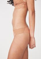 Cotton On - Party pants seamless brasiliano brief - neutral