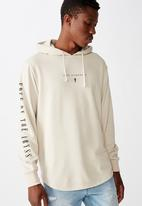 Cotton On - Into the darkness curve tail hoodie - pearl