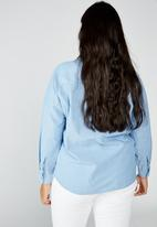 Cotton On - Curve Lucy shirt - light blue