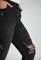 Cotton On - Curve Adriana high skinny jeans - black