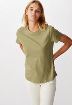 Cotton On - The one crew tee - oil green