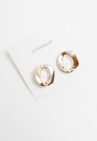 Superbalist - Lina abstract studs - gold
