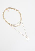 Superbalist - Sydney layered pendant necklace - gold