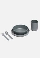 Modern Easy  - Kids bamboo dinner set - sky