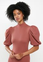 Blake - Turtleneck mini dress - cinnamon