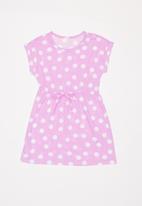 POP CANDY - 2 Pack t-shirt dress - pink & navy