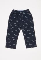 POP CANDY - Printed pants - navy