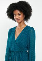 Blake - Chiffon mini dress - Moroccan blue