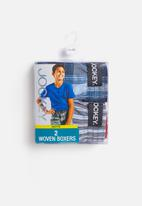 Jockey - 2 Pack boys woven boxer - blue & grey