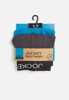 Jockey - 2 Pack boys pouch trunk - blue & grey