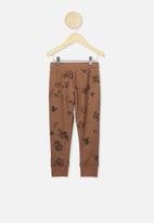 Cotton On - Heritage trackpants - brown