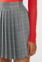 Blake - Pleated check mini skirt - hazel