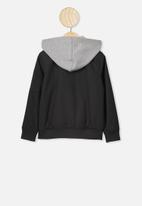 Cotton On - Staple hooded bomber - black