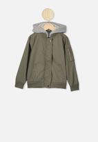 Cotton On - Staple hooded bomber - khaki
