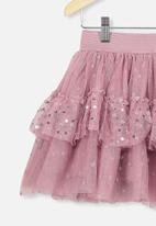 Cotton On - Trixiebelle tulle skirt - dusty berry