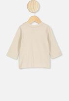 Cotton On - Jamie long sleeve tee - beige