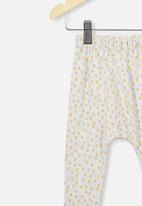 Cotton On - The legging - grey & yellow