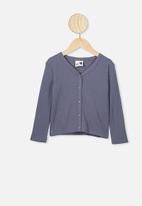 Cotton On - Bessie button through top - vintage navy