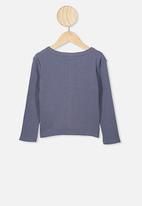 Cotton On - Bessie button through top - vintage navy