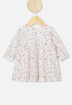 Cotton On - Molly long sleeve dress - dark vanilla