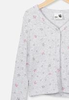 Cotton On - Bessie button through top - grey