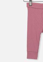 Cotton On - The rib legging - pink