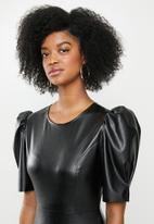 Blake - Pleather mini dress - black