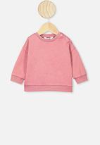 Cotton On - Enzo drop shoulder top - rusty blush