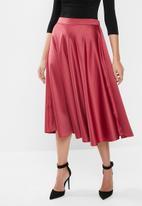 MILLA - Circle midi skirt - red clay