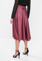 MILLA - Circle midi skirt - purple rose