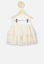Cotton On - Trixiebelle tulle skirt - dark vanilla sparkle stars