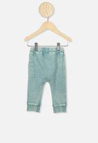 Cotton On - Zac trackpant - aqua dream