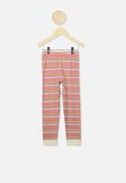 Cotton On - Florence long sleeve pj set - peach