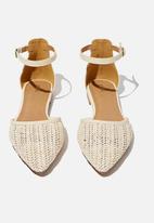 Cotton On - Naomi ankle strap - off white raffia