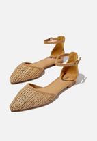 Cotton On - Naomi ankle strap - tan raffia