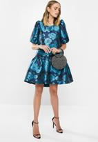 MILLA - Puff sleeve mini dress - blue floral