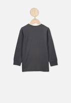 Cotton On - Tom long sleeve tee - black
