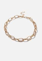 Rubi - Chunky open link treasures necklace  - gold