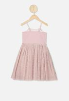 Cotton On - Iris tulle dress - smokey pink