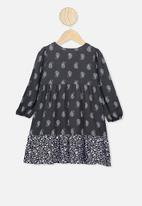 Cotton On - Ebony long sleeve dress - phantom