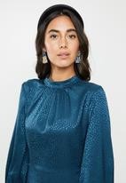 VELVET - Satin midi dress - ash blue