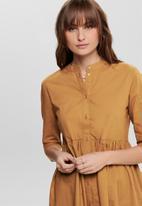 Jacqueline de Yong - Ulle 3/4 shirt dress - yellow