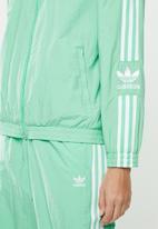 adidas Originals - Adicolour lock up track top - green & white