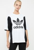 adidas Originals - Bellista boyfriend tee - white & black