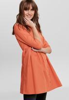 Jacqueline de Yong - Ulle 3/4 shirt dress - orange