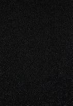 VELVET - Asymmetric metallic maxi - black