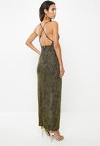 VELVET - Sparkle maxi dress - black & gold